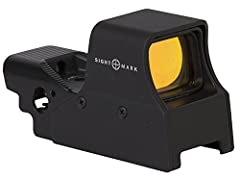 Cast magnesium alloy housing with protective shield IP68 Waterproof rating - submersible to 40ft Low power consumption Digital switch controls Variable reticle brightness with night vision modes
