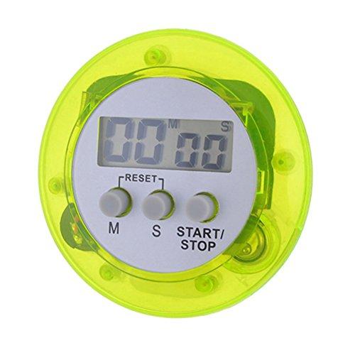 PIXNOR Numérique de minuterie de cuisine cuisson minuteur avec alarme puissante (vert)