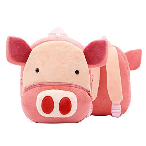 Cochon mignon Sac à dos pour tout-petit Sac pour enfants Petit sac de voyage à motif animalier pour bébé fille garçon 2-4 ans Cadeau de noel cadeau d'anniversaire D
