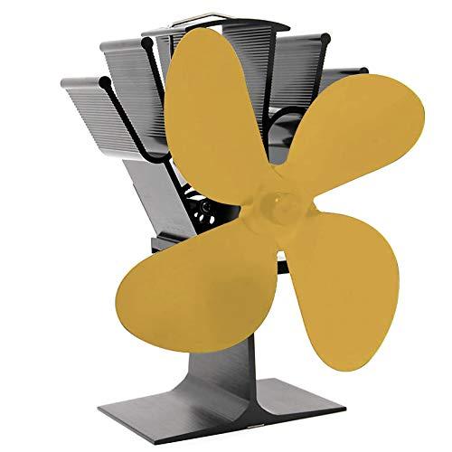 Xzbnwuviei SF104 Vierblättriger Kaminventilator, SF104 4-Blatt-Heizofenlüfter Für Holzkaminofen Heizung Kamin Kraftstoff Sparen Leise Ecofan Effizient