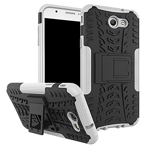 Carcasa de telefono Funda protectora para Samsung Galaxy J7 2017, TPU + PC Funda robusta híbrida de grado militar, caja de teléfono a prueba de golpes con soporte Funda trasera para smartphone