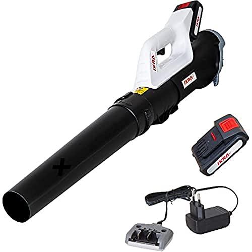 Ikra Souffleur axial sur batterie ICB 20, ergonomique, compact et léger, batterie et chargeur inclus