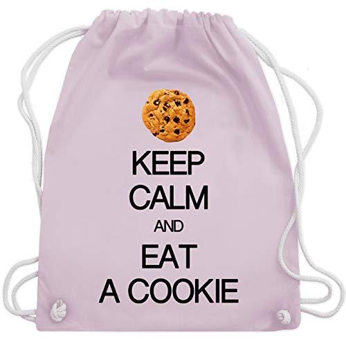 Shirtracer Keep calm - Keep calm and eat a cookie - Unisize - Pastell Rosa - tasche stoff - WM110 - Turnbeutel und Stoffbeutel aus Baumwolle
