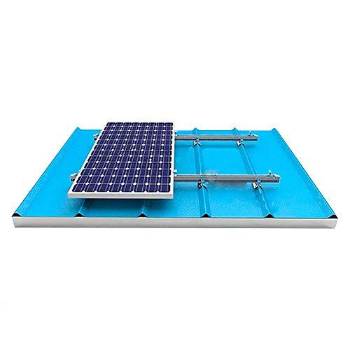 Estructura de Aluminio para Paneles Solares en Tejado Sandwich Chapa (para 4 paneles)
