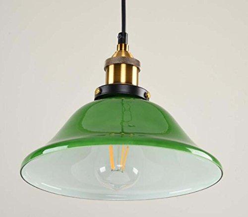 Lampadario vintage, Lampadario creativo Lampadario in vetro verde smeraldo, Lampada da cucina industriale nordica con lampade a sospensione per soggiorno (Dimensione : B)