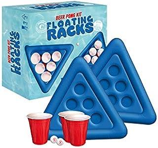 38 mm 10021524 Relaxdays 48 Bi/ère Balles Ping-Pong Tennis de Table Loto Jeu /à Boire sans Inscription 38mm Plastique Blanc