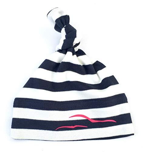 Maritime Babymütze Möwen - Fair Trade - Knotenmütze für Mädchen von ebbeundflut