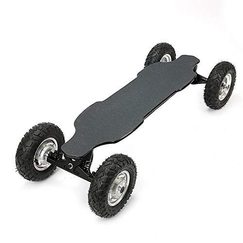 YLFGSLEP Elektrisches Allrad-Skateboard, elektrisches Offroad-Longboard mit drahtloser Bluetooth-Fernbedienung, elektrisches High-Power-Offroad-Skateboard mit 2x1650W im Freien
