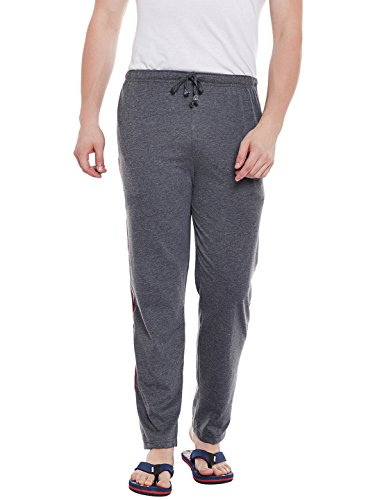 VIMAL JONNEY Men's Cotton Trackpant (Dark Grey, Large)