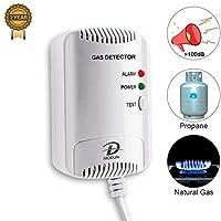 Detector de Gas, Sensor fugas de LPG/Gas Natural/gas de Carbón, Monitor de Me...