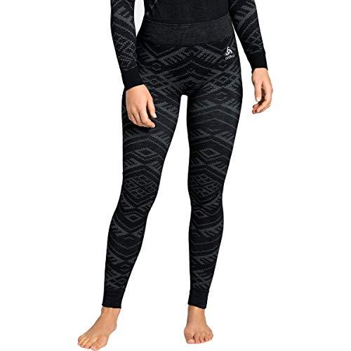 Odlo Natural+Kinship Unterhose sous-vêtement pour Femme, Noir Chiné, XL