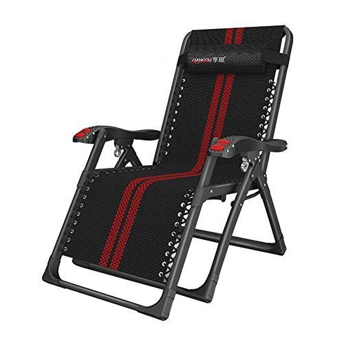 Dall Chaise Longue Chaise Pliante Bureau Les Personnes Âgées Chaise De Plage Paresseux Jardin Camping Chaise Réglable (Couleur : A)