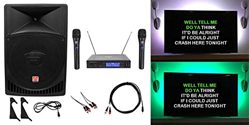 Review Rockville 15 Powered Karaoke Machine/System w/LED's+(2) Wireless Microphones