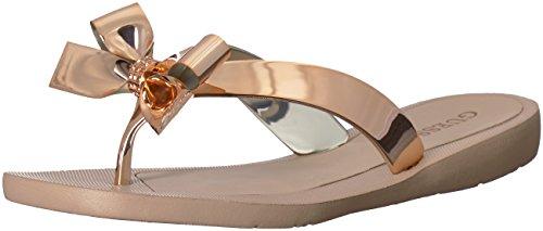 GUESS Women's TUTU9 Sandal, Gold, Numeric_7