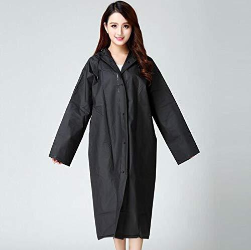 Regenjassen 3 Pack Black EVA Herbruikbare regenponcho's Regenjassen met kap Rain Poncho voor vrouwen en mannen