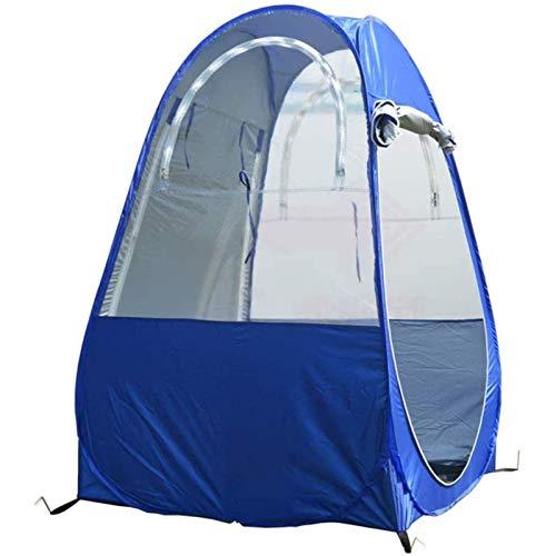 Carpa emergente, carpa emergente portátil con dos ventanas y bolsa de transporte, utilizada para acampar y pescar, azul