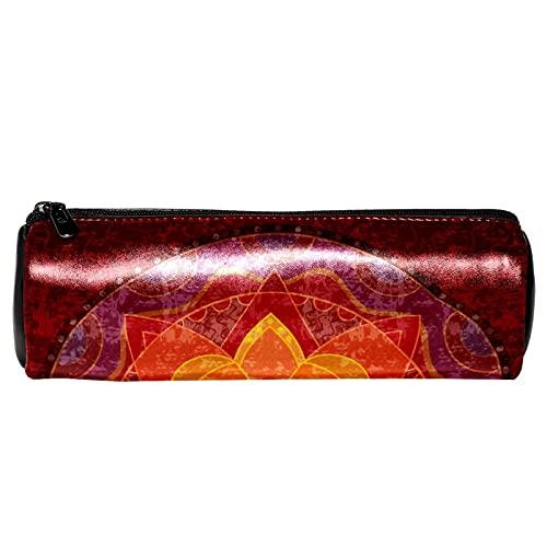 Hippie Mandala Yoga Psicodélico Patrón Estuche de papelería Bolsa de almacenamiento Organizador Bolsa de Cosméticos Bolsa para la Escuela Adolescente Niñas Niños Hombres Mujeres