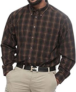 Harbor Bay Big and Tall Plaid Long Sleeve Wrinkle Resistant Shirt for Men