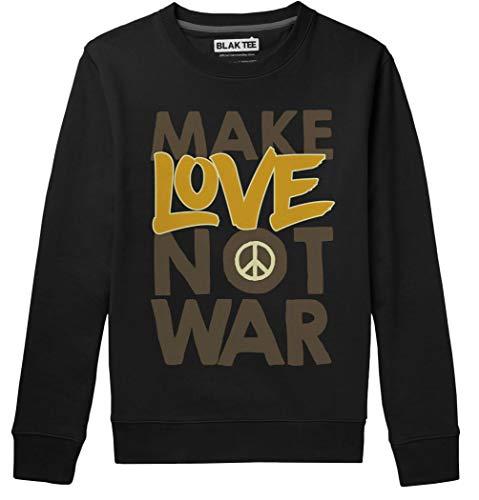 BLAK TEE Hombre Make Love Not War Peace Slogan Graffiti Camisa De Entrenamiento