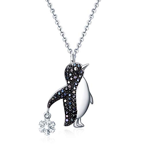 YAFEINI Penguin Gifts Sterling Silver Penguin Necklace Penguin Pendant Jewelry for Women Girls Gifts