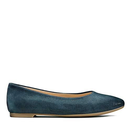Clarks Damen Chia Violet Geschlossene Ballerinas, Blau (Navy Interest Navy Interest), 39 EU