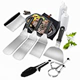 Griddle Accessories Kit,[Upgraded] 11Pc BBQ Tool Set for Blackstone - Commercial Heavy Duty...