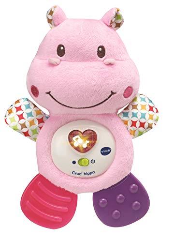 VTECH- Croc' Hippo Rose Baby Jouet Premier Age, HOCHET, 80-502555 - Version FR