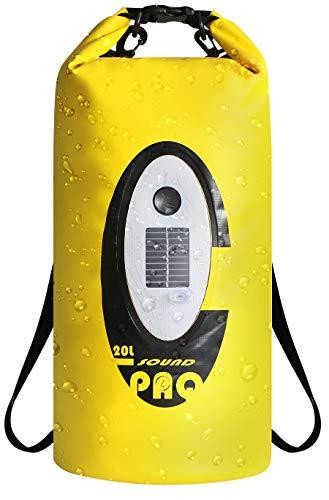 Northpoint Rucksack Dry Bag mit Bluetooth Lautsprecher und Beleuchtung Notlicht Wasserdichter Rucksack Outdoor Packsack