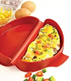 Best Omelette Makers - SILICONE MICROWAVE OMELET MAKER, RED Review