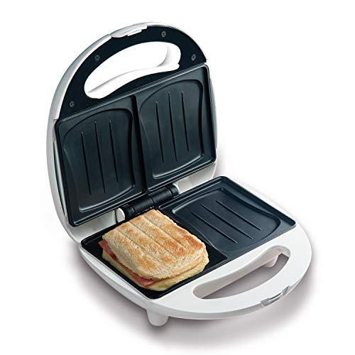 Domo DO9041C Sandwich-Toaster backt 2 Sandwiches gleichzeitig in Muschelbackform, Backampel für optimale und gleichmäßige Backergebnisse, kein ankleben dank Anti-Haftbeschichtung, 700 Watt