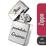 Zippo mit Gravur - personalisierte Geschenke I Zippo Feuerzeug I Chrome Standard I Feuerzeug Gravur...