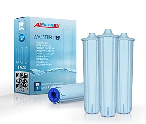 3 filtri per acqua compatibili con cartuccia filtrante Jura Claris Blue, set da 3