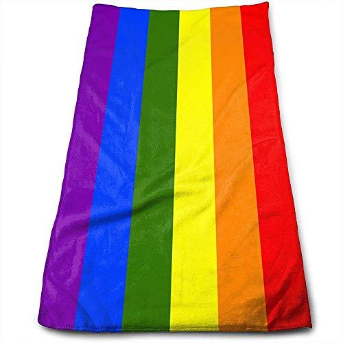 Toallas de Mano Bandera del Orgullo Gay Toallas de Secado de Cabello súper absorbentes Toallas Multiusos
