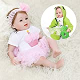 KRR Reborn Baby Dolls, 22' with 2 Suits, Realistic Baby Dolls, Silicone Baby Doll, Real Life Baby Dolls, Lifelike Newborn Baby Doll Weighted Toddler Dolls