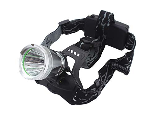 Genwiss Led Rechargeable Outdoors Headlamp, 3000 Lumen Sindustrail Head Lamp, T6 Led Big Head Light, 3 Modes Aluminum Alloy Headlamp Flashing for Camping Running Hunting Fishing Riding Walking