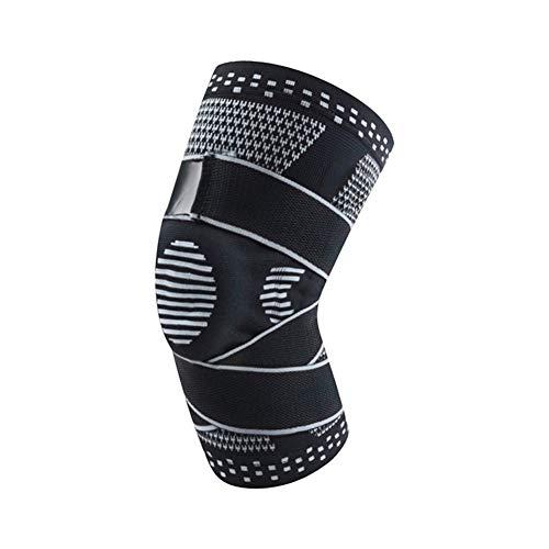 AleXanDer1 Ellenbogenbandage 2ST Patella Knieschützer Brace Pressurized Silikon Frühling Knieschoner Basketball Kompression elastische Knie-Hülsen-Stütz (Color : BH, Size : XL)
