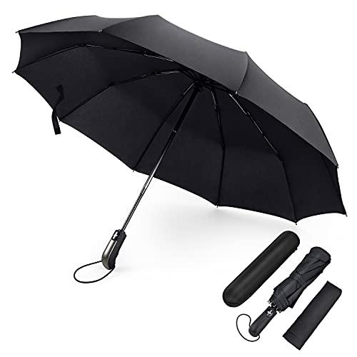 FYLINA Pro Regenschirm Sturmfest bis 140 km/h Umbrella Schirme Winddicht Kompakt Klein Stabiler Schirm Auf-Zu-Automatik Umbrella Transportabel Taschenschirm Reiseschirm Geschenktüte Trockenbeutel