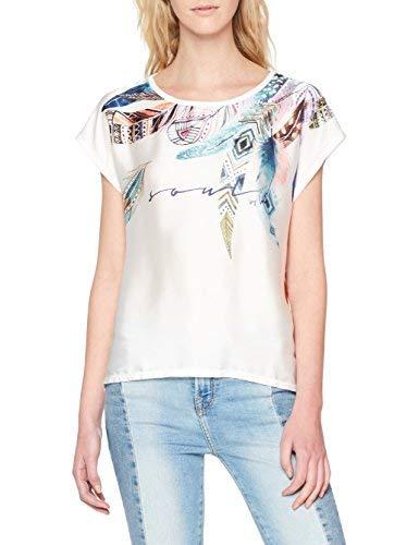 Inside 5SCN64& Camiseta, Blanco (Blanco 90), Large (Tamaño del Fabricante:L) para Mujer