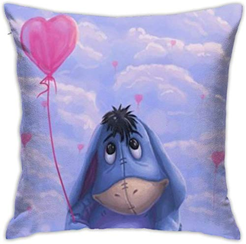 Bxad Throw Pillow Covers Eeyore On The Clouds Pillowcase Cushion Case for Sofa Bed Chair Home Decor.(18x18 Inch)