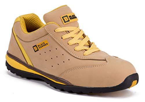 Zapatillas Deportivas de Seguridad para Hombres Puntera S1P SRC Calzado de Trabajo Botines para senderistas Protección Entresuela 4007