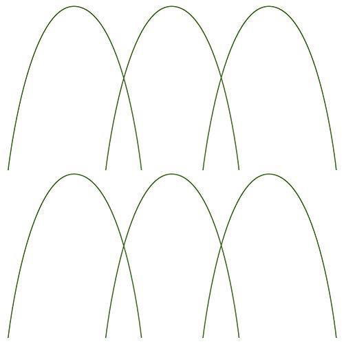 æ— Gewächshaus-Reifen, lang, Stahl mit kunststoffbeschichtetem Gartenrahmen, Tunnel-Unterstützung für Gartengewebe, Pflanzenstütze, Gartenpfähle, 6 Stück