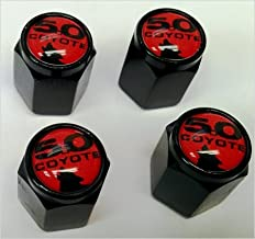 Ford Mustang Coyote 5.0 Shelby GT Valve Stem Caps (Black - Red Coyote)