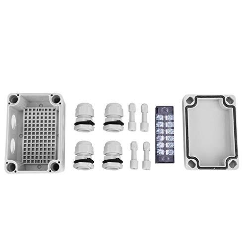 Caja de conexiones de plástico, carcasa de control de interruptor impermeable Caja de conexiones de conexión de cable de ABS Caja de plástico(65 * 95 * 55)