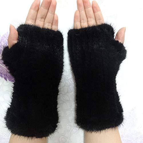 SSSGHH Handschuhe Art- Und Weisewinter-Damen-Handschuh Gestrickte Faux-Pelz-HandschuheWeiblicheHandschuh-Elastizität Gute Qualität