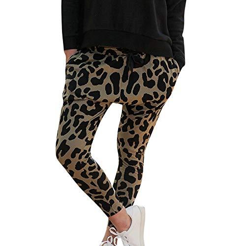 Damen Druck Lange Hose, Yogogo Damen Yoga Leggings Hose Hohe Taille Pants Leopard Lange Hosen Mesh Muster Druck Leggings für Sport Fitness...
