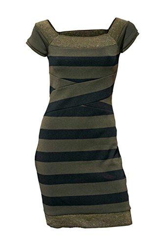Heine - Best Connections Kleid moosgrün-schwarz Größe 46