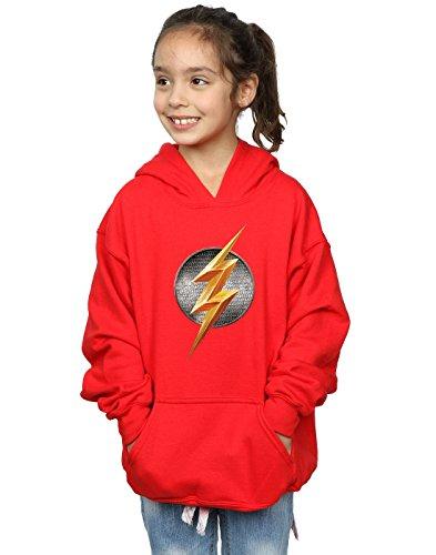 DC Comics niñas Justice League Movie Flash Emblem Capucha 9-11 Years Rojo