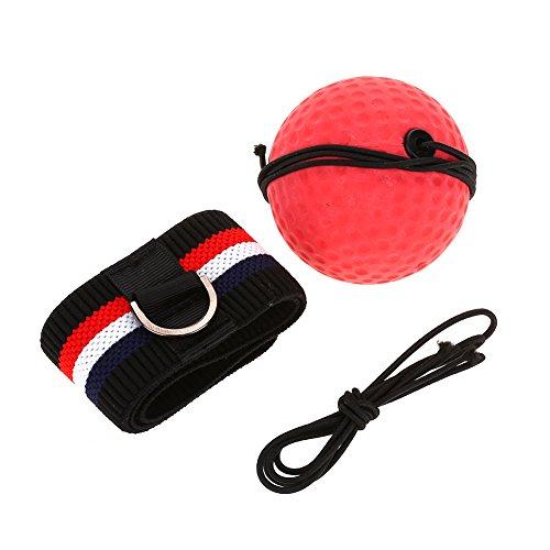 Palla Riflesso da Boxe con Fascia Elastica per Riflesso velocità Allenamento MMA Palla per Pugilato Boxe(E305-H04)