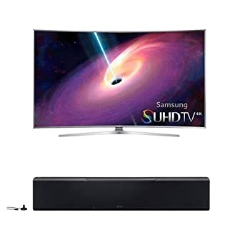Samsung UN78KS9500 78  Class 4K SUHD Curved Edge-lit LED Smart TV - Bundle With Yamaha 128W 7.1.2-Channel MusicCast Sound Bar