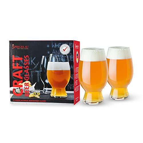 Spiegelau & Nachtmann, 2-teiliges Kraftbier-Glas-Set, American Wheat Beer/Witbier, Kristallglas, 750 ml, Craft Beer Glasses, 4992663